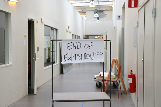 End of exhibition