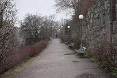 Valhallavägen wall